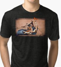 The Flintstones go Lowbrow Tri-blend T-Shirt
