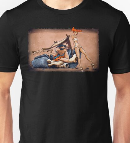 The Flintstones go Lowbrow Unisex T-Shirt