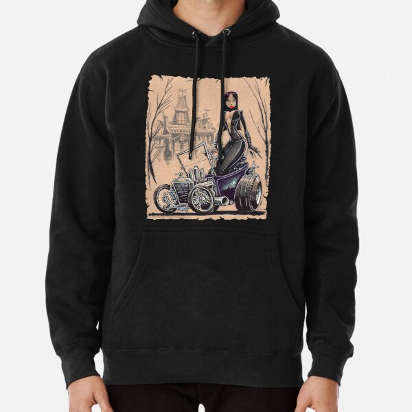 MORTICIA in a T-Bucket Pullover Hoodie