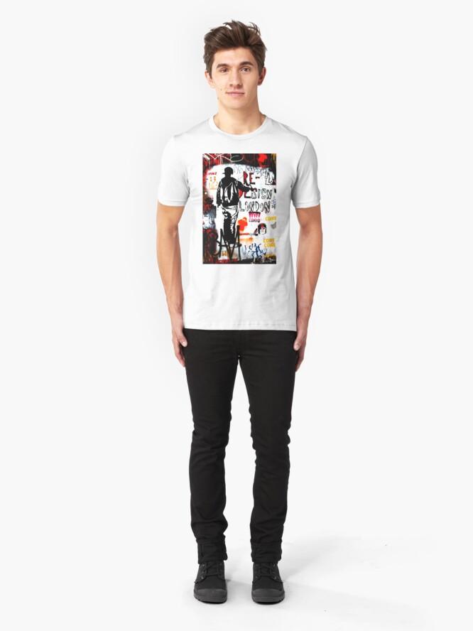 Alternate view of Redesign London - Banksy Slim Fit T-Shirt