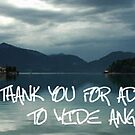 Thank You Banner - Wide Angle Photography by Kasia-D