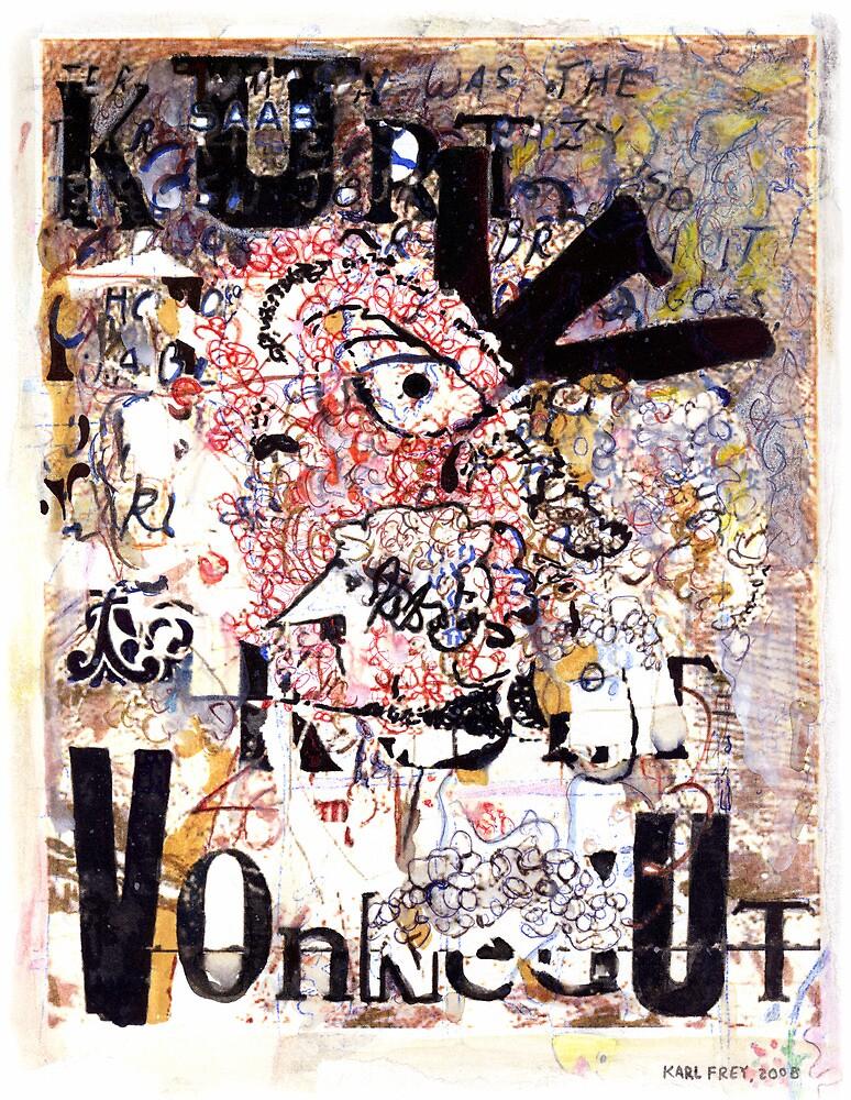 Kurt Vonnegut Portrait by Karl Frey