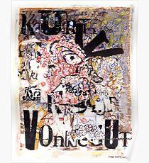 Kurt Vonnegut Portrait Poster