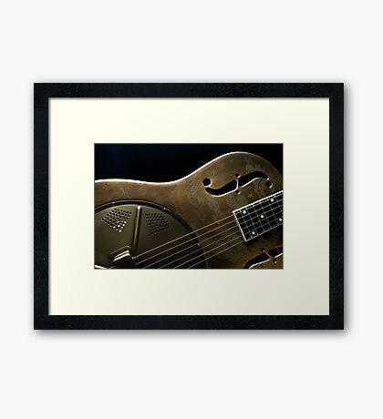Guitar Icon : Resonator Framed Print