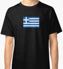 Greek National Flag T-Shirt - Greece Sticker Classic T-Shirt