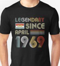 Legendary Since April 1969 Shirt Vintage 50th Birthday Gift Men Women Unisex T-Shirt