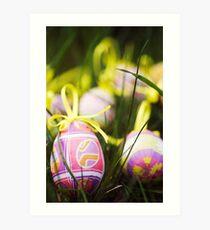 Easter egg hunt Art Print