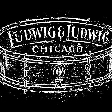 Ludwig Marching calcomanía tambor-1900-Música-Rock-Blues-Jazz de carlosafmarques