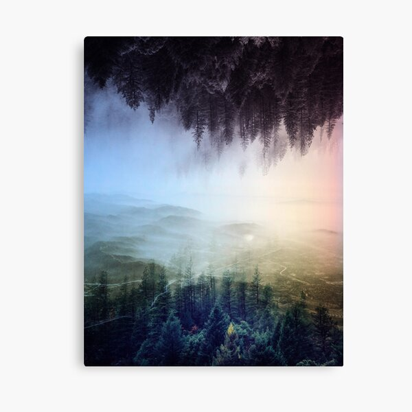 Misty forest , Foggy forest , final fantasy, wanderlust art Canvas Print