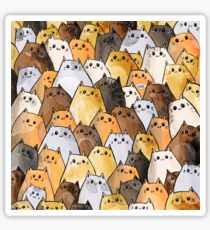 Gangs of Cat Cats Kitten Kitty Pattern Sticker