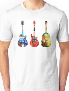 Guitar Threesome - Colorful Guitars By Sharon Cummings Unisex T-Shirt