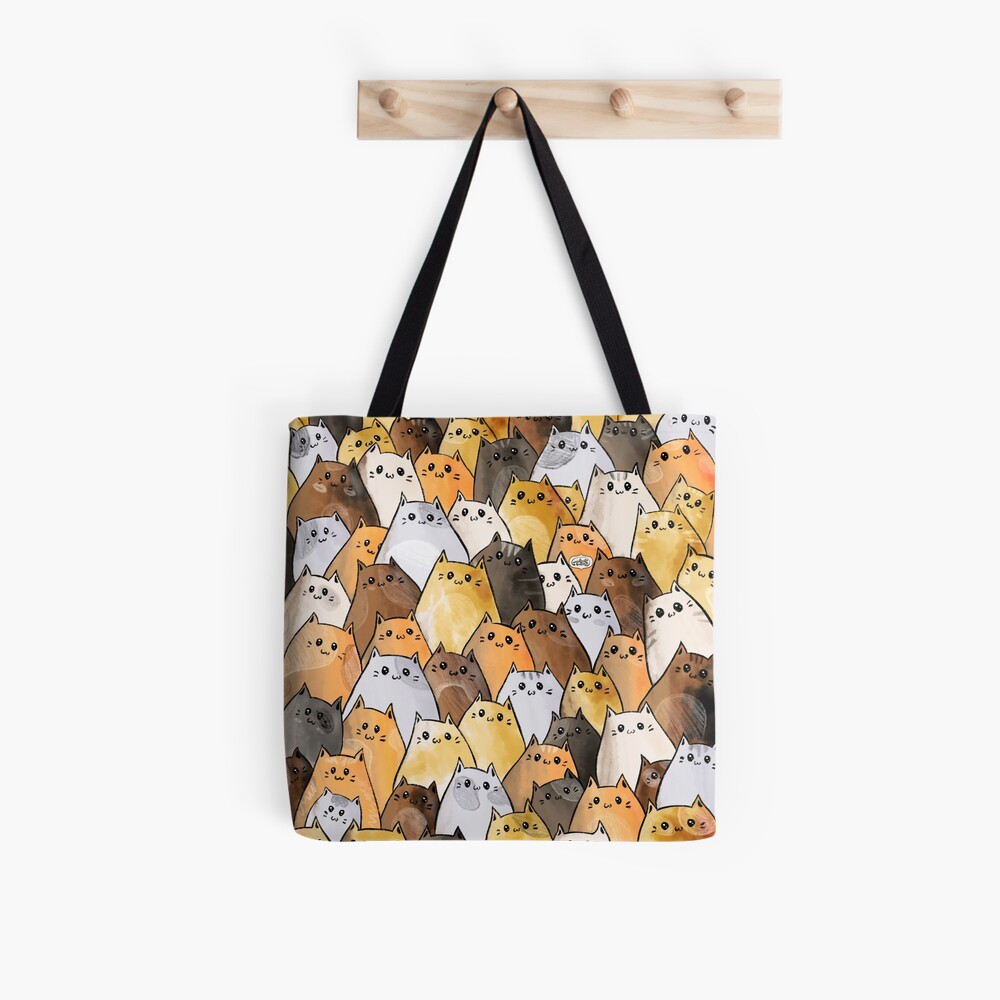 Cute Kitty Cat Pattern - I Want To Pet Every Cat In The World Tote Bag