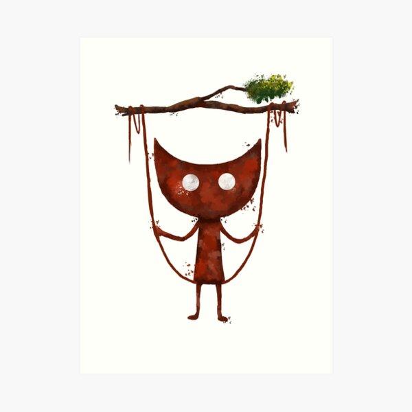 Unravel yarn boy Art Print