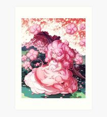 Rose and Lion Art Print