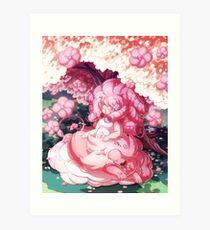 Lámina artística Rosa y León