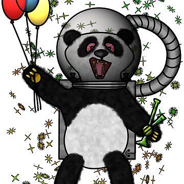 Pascal the Pot Smoking Space Panda by BFGSM0121