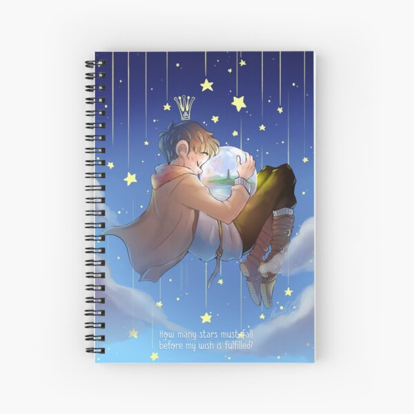 How many stars must fall before my wish is fulfilled?_Merlin Spiral Notebook