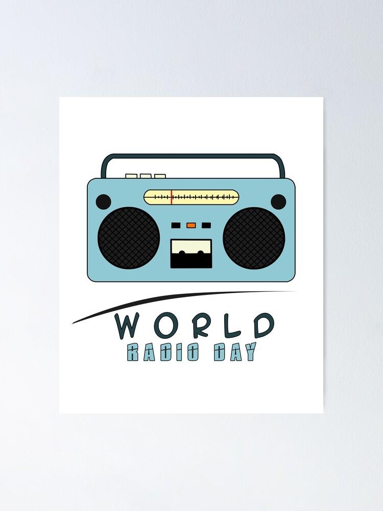 Radio Poster Print Radio Blueprint Radio Station Art DJ Gift Broadcasting Gift