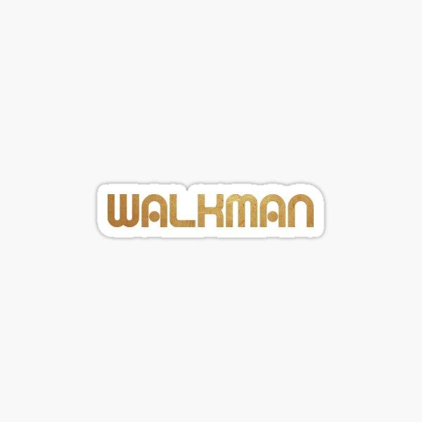 Walkman retro gold Sticker