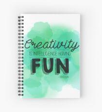 Cuaderno de espiral La creatividad es ...