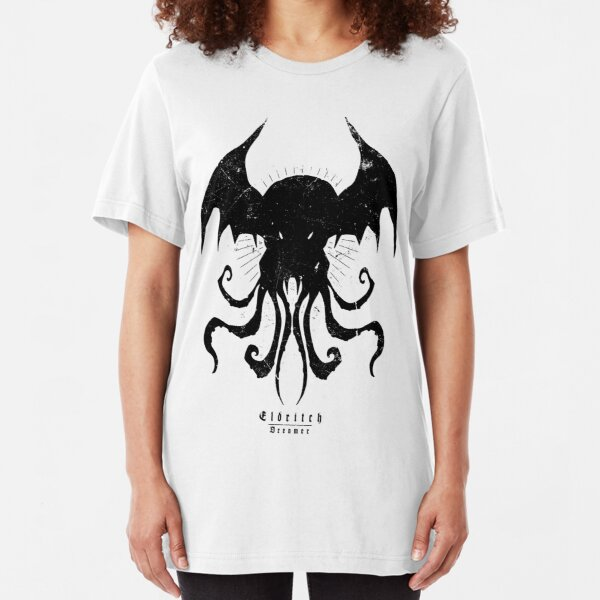 Kopie von The Call of Cthulhu - Eldritch Dreamer - Lovecraftian mythos wear Slim Fit T-Shirt