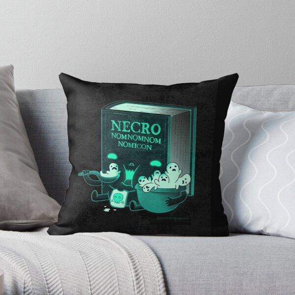 Necronomnomnomnomicon Throw Pillow
