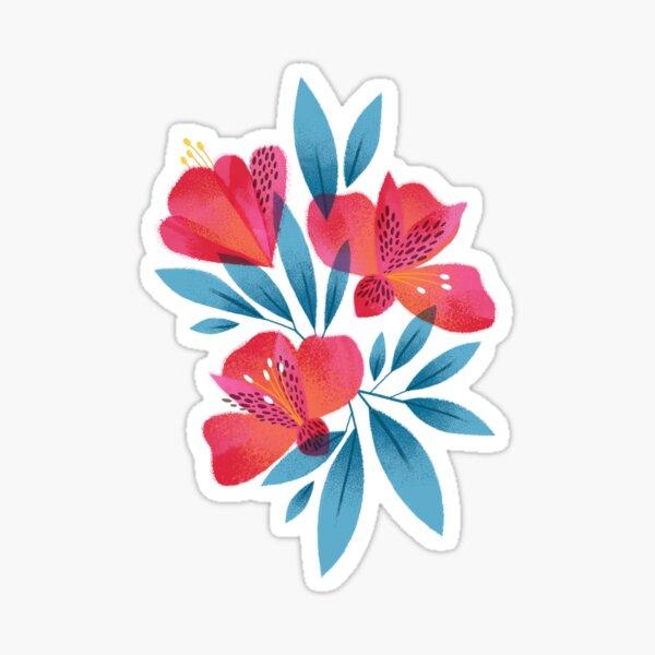 Pink Peruvian Lilies  Sticker