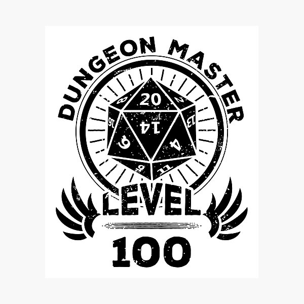 Tabletop Dungeons and Dragons Geek Art RPG Wall Art Natural 20 Certainty Of Death Sign Critical Role - Pen and Paper