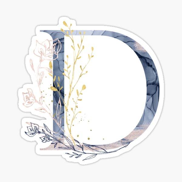 Decorative Letter D Sticker