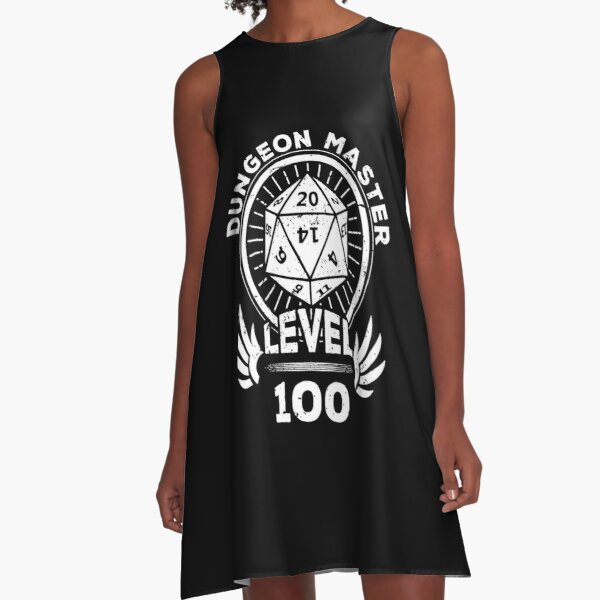 Level 100 Dungeon Master RPG Gamer Gift A-Line Dress