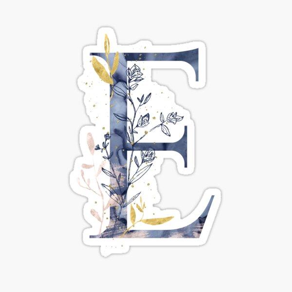 Decorative Letter E Sticker