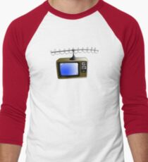 Fan of TV - Retro TV - Television - Some of you may not have seen one of these!! Men's Baseball ¾ T-Shirt