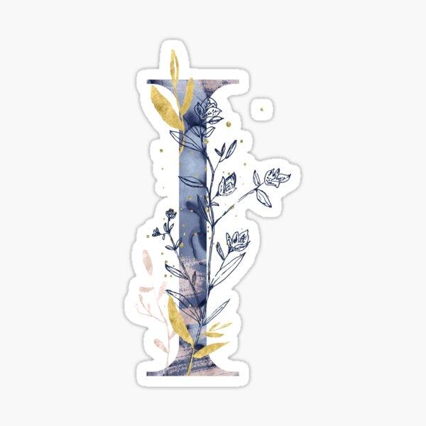 Decorative Letter I Sticker