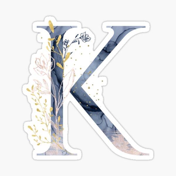 Decorative Letter K Sticker