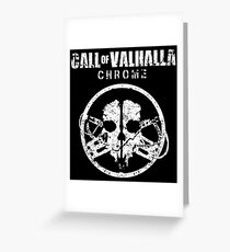 Call of Valhalla: Chrome Greeting Card