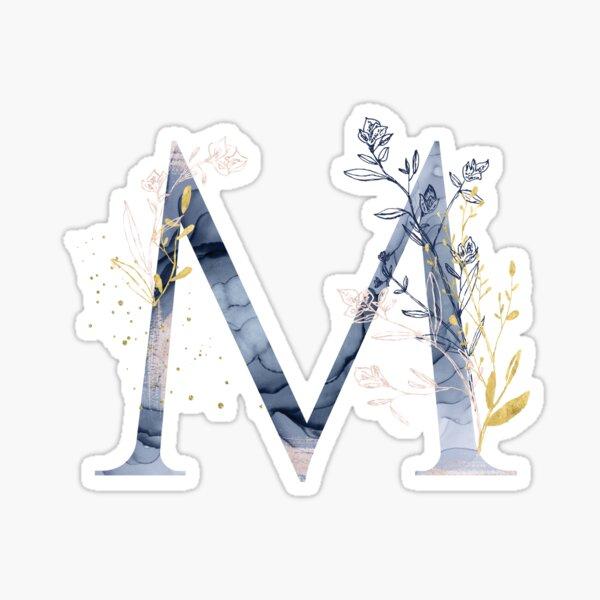 Decorative Letter M Sticker