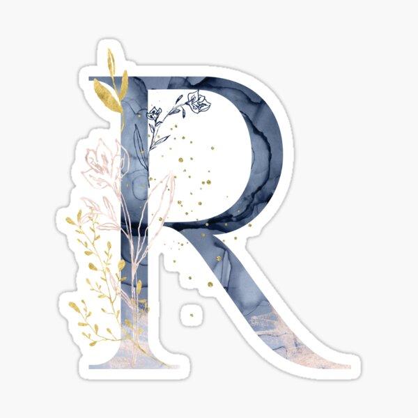 Decorative Letter R Sticker