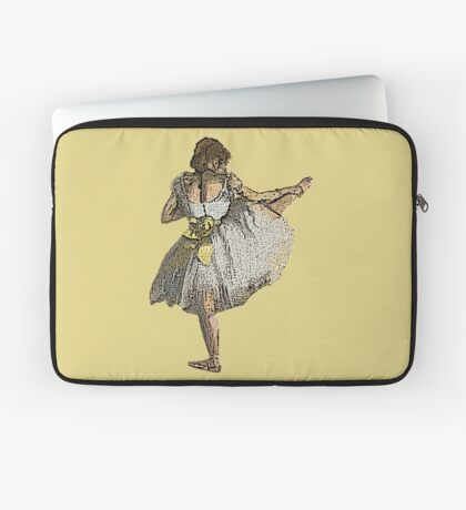Ballet Dancer Grunge Laptop Sleeve