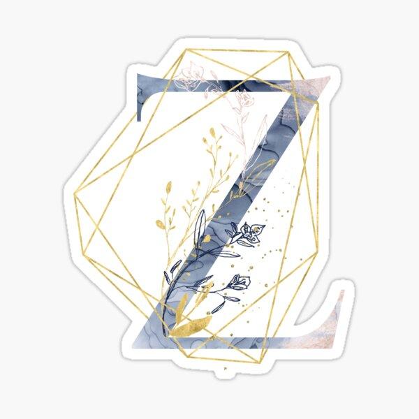 Geometric Decorative Letter Z Sticker