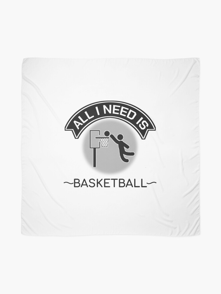 Alternate view of All I Need Is Basketball Dunking Sportsmen Gift Scarf