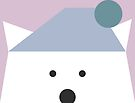 Peek-a-Boo Bear with Hat, Pale Blue and Lavender by Kendra Shedenhelm