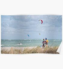 KITE SURFING (Ft, Pierce, Florida) Poster