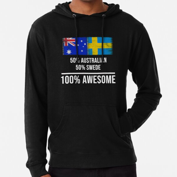 SWEDISH DAD Funny Gift Idea Men/'s Hoody //Hoodies Sweden Father/'s Day