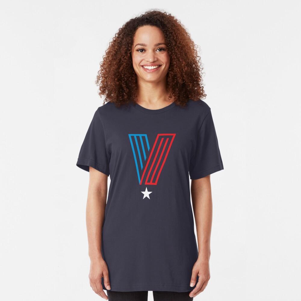 Veteran Superhero Letter V Slim Fit T-Shirt