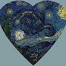 The Starry Night Heart by DesignsByDebQ