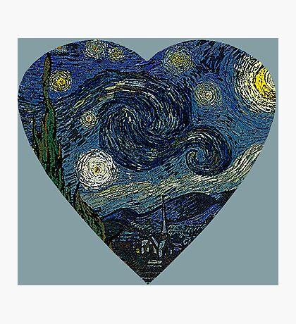 The Starry Night Heart Photographic Print