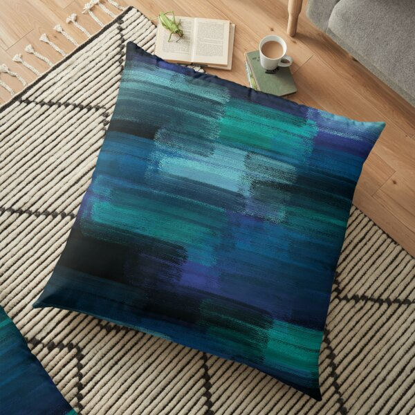Midnight Ocean Floor Pillow