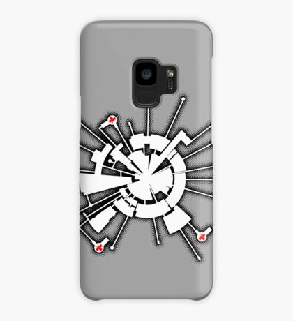 Alpha Moon Base Front Case/Skin for Samsung Galaxy