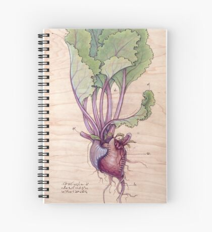 Heart Beet Spiral Notebook