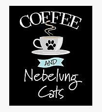 Lámina fotográfica Diseño del gato de Nebelung - café y gatos de Nebelung